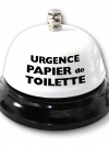 Cloche de table - Urgence papier de toilette