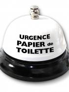 Cloche de table - Urgence papier de toilette