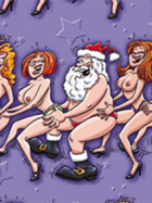 Conga Line Santa